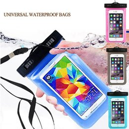 Wholesale Iphone Waterproof Case Clip - Waterproof Bag Case For iPhone 7 6 6S Samsung S8 S6 S7 Universal Underwater Clear Pouch Dry Mobile phone Water proof Bags Cases