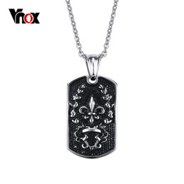 Wholesale Fleur Lis Silver Pendant - Newest Men Pendant Fleur-De-Lis Pingente Fashion Stainless Steel Pendentif Statement Necklace Men Jewelry