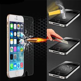 Wholesale Iphon Screen - Wholesale-Pelicula de vidro tempered glass phone screen protector protective film For iphon ipone iphone 4 4s 5 5s 5c 5g 6 6s plus ecran