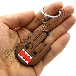 Wholesale Racing Charms - Free Shipping soft rubber Domo Kun Teddy Anime Keychain Keyring JDM racing Japanese Toy Phone Charm