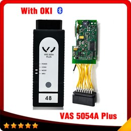 Wholesale Vw Uds Diagnostic - 2016 New VAS 5054 Plus ODIS V3.0.3 Bluetooth Version with OKI Chip Support UDS Protocol VAS5054A Diagnostic Scan Tool free shipping