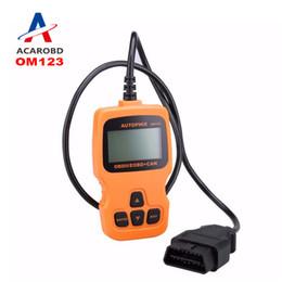 Wholesale Auto Diagnostic Obd Eobd - 2016 Multi-language AUTOPHIX OBDMATE OM123 OBD OBD2 EOBD CAN Hand-held Engine Analyzer Code Reader OM123 Auto Diagnostic Scanner