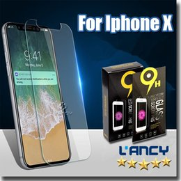 Wholesale Package Films - Tempered Glass screen protectors for iphone X  8 7 note8 Premium Real Film Screen Protector with paper package