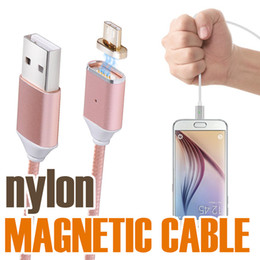 Wholesale High Opp - Magnetic Cable Micro USB Cables Nylon Braided High Speed Type c Charger 1.2M For Android Samsung With OPP Package