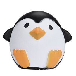 Wholesale Cute Bread - PU Male and female Antarctic penguins Jumbo Squishy Slow Rising Pendant Phone Straps Charms Queeze Kid Toys Cute squishies Bread