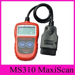 Wholesale Diagnostic Scan Tool Eobd - 2016 Autel MaxiScan MS310 Code Reader OBD II EOBD OBD 2 Scan Tool Car Code Scanner Fault Diagnosis Instrument Vehicle Detection Instrument