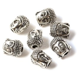 Wholesale 9mm Charms - 2016 Newest Silver Buddha To Buddha Head Charm 10 *9mm Copper Buddha Meditation Charms Fashion Accessories Fit Sandalwood Beaded Bracelets
