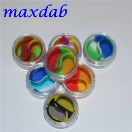 Wholesale Round Test - 2016 Wax acrylic Containers Silicone Jars Dab Wax Container 10ml Tin Dab Plastic Silicone Containers For Wax Pass FDA & LFGB Tests