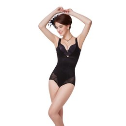 Wholesale Full Body Animal Suits - Wholesale-Women Seamless Full Body Shaper Suit Girdle Open Bust All In One Shapewear