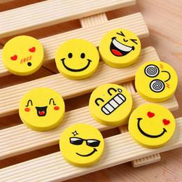 Wholesale Eraser Lipstick Rubber - New 5cs kawaii School supplies office supplies stationery cute Smiling face eraser Funny pencil rubber cartoon eraser
