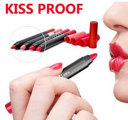 Wholesale Waterproof Red Lipstick - 2016 NEW Makeup M.N nonstick cup not fade Crayon-style lip pen kissproof batom soft lipstick Durable kiss proof waterproof