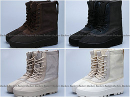 Wholesale Leather Fashion Boots Lace - 2017 Boosts 950 Boost Kanye West Shoes 950 High Boots Duck Boot Color Peyote Moon Rock Women Men Shoes Sneaker Moonrock Trainers