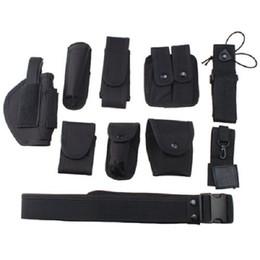 Wholesale Police Belts - 10pcs Set Police Security Modular Equipment System Duty Belt Holster Molded Nyon Set Black Brand New