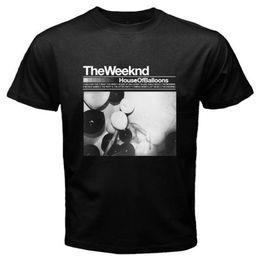 Xl palloncini online-Novità The Weekend House of Balloons XO Music T-shirt nera da uomo taglia S a 3XL Casual Uomo T-shirt da uomo