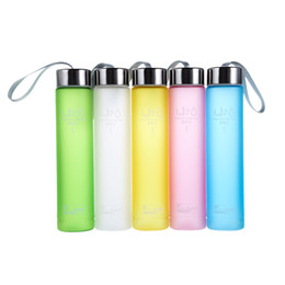 Wholesale Cycle Briefs - Wholesale- Muti Colors Plastic Water Bottle Portable Bike Sports Travel Unbreakable Plastic Water Bottle Cycling Camping Cup Drinkware