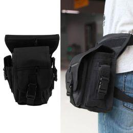 Wholesale Drop Leg Bag Waist Pouch - Outdoor Tactical Military Drop Leg Bag Panel Utility Waist Belt Pouch Bag free shipping