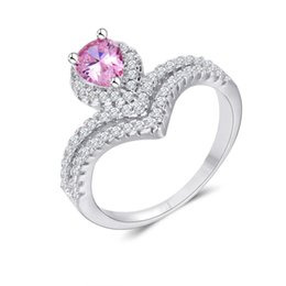 Wholesale Cheap Cz Rings Wedding - Women's Luxury Jewelry for Girls Cheap Silver Rings Rhinestones CZ Diamond Ring Valentine's Day Gift for the New Year 2016 rj017