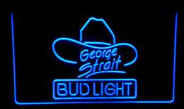 Wholesale Bud Light George Strait - LS103-b Bud Light George Strait Bar Pub Neon Light Sign