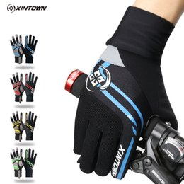 Wholesale Road Bicycle Winter Gloves - XINTOWN Winter Cycling Gloves Full Finger Nylon Road Bike Gloves Mtb Sport Bicycle Gloves Guantes Ciclismo 4 Color