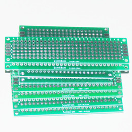 Wholesale Prototype Pcb Board - Wholesale-8pcs PCB Prototype Circuit Board Protoboard Stripboard Prototyping Breadboard 2*8+3*7+4*6+5*7 CM 2pcs Each Double Side Module