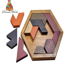 Wholesale Good Jigsaw - 2017 new styles BabyProduct Name: Kids Puzzles Wooden Toys Tangram Jigsaw Board Wood Geometric Shape P Children Educational Toys