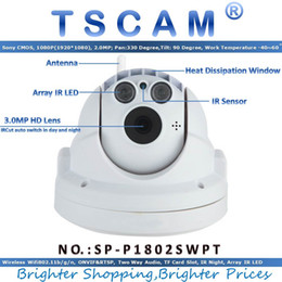 Wholesale Wifi Dome Camera Ptz - TSCAM new SP-P1802SWPT Full HD 1080P 2.0MP Wireless Wifi PTZ Dome IP Camera with Pan Tilt TF Micro SD Card Slot ONVIF