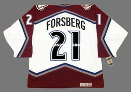 Wholesale Peter Forsberg - Cheap custom retro PETER FORSBERG Colorado Avalanche 2001 CCM Vintage Home Jerseys Throwback Mens stitched Hockey Jersey