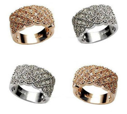 Wholesale Diamond Jewellery Wholesalers - Engagement Rings Vivid Ring Unique Shaped White Gold Plated Paved Cocktail Rings for Womens Fashion jewellery CZ Full Diamond Rings