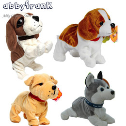 Wholesale Electronic Toys For Dogs - Abbyfrank Sound Control Electronic Dogs Interactive Electronic Pets Robot Dog Bark Stand Walk Electronic Toys Dog For Children