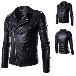 Wholesale Goat Leather Jacket Men - Men Leather Jacket 100% Real Goat Skin Fashion Brand Black Short Soft Men's Genuine Leather Coat