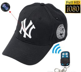 Wholesale Spy Photo Camera - 8GB 1920x1080P HD Hidden Spy Camera NY Baseball Hat DVR Video Recorder Cap camcorder Support Photo Taking Remote control