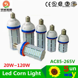 Wholesale E27 21w - Free shipping Super Bright Led corn bulb E40 60W 80W 100W 120W Led Corn Light 360 Angle SMD2835 Led lamp lighting AC 100-300V