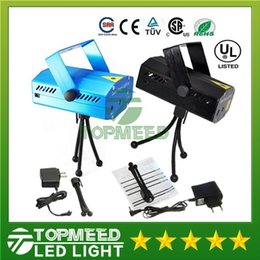 Wholesale Dhl Dj Laser - DHL Free Shipping 150MW Mini Red & Green Moving Party Laser Stage Light laser DJ party light Twinkle 110-240V 50-60Hz With Tripod lights 50