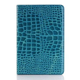 Wholesale Cool Cases For Ipad Mini - Cool Crocodile Leather Cover for iPad Mini 4 Stand Case for Apple iPad Mini Cases Fashion iPad Mini Retina Tablet Cover Black Brown