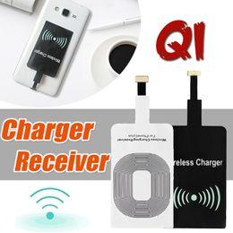 Qi cargador inalámbrico receptor nota online-Qi Cargador inalámbrico de energía Módulo receptor Adaptador Adaptador de carga de alta velocidad para iPhone 7 Plus 6 6S SE 5S 5 Samsung Note 8 S8 S7 S6 Edge