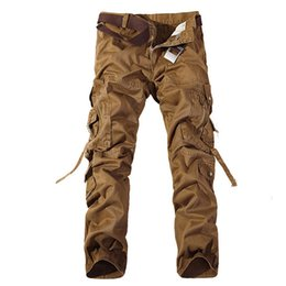 Wholesale Cargo Soft - Free shipping Camouflage trousers Men's Soft Shell Military Outdoors PantsTop quality military camo cargo pants leisure cotton trousers
