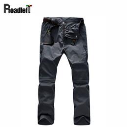 Wholesale Softshell Mens - Wholesale-Mens multi-function removable outdoor casual sport pants Men quick-dry breathable cargo work pants men softshell sweatpants