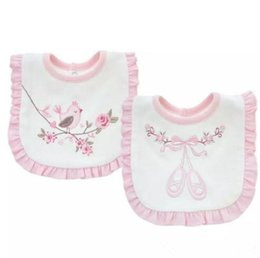 Wholesale Feeding Tops - Baby Bib Lace towel double cotton embroidered Bib slobber Burp Cloths Chinese Style Baby Feeding Bibs Top quality B11