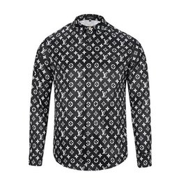 Wholesale Mens Embroidery Designs - 2017wholesale stylish Design 3D Tiger Embroidery Floral Print Mixture Colour luxury casual long sleeved mens shirts M-3XL medusa shirt
