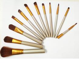 Wholesale Facial Brush Set - N3 Brush Professional 12pcs Makeup Cosmetic Facial Brush Kit Metal Box Brush Sets Face Powder Brush DHL Fast Shipping 1Set=12 pcs