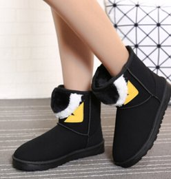 Wholesale Small Heels Women Shoes - European station new boots with female boots in the boots with big eyes Lafayette small monster warm large cotton shoes 35-40