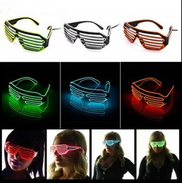 Wholesale led bar glasses - EL Wire Light LED Glasses Bright Light Party Glasses Club Bar Performance Glow Party DJ Dance Eyeglasses OOA2479