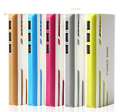 Wholesale External Backup Battery Charger Light - Powerbank 15000mAh 18650 Power Bank 3 USB Ports With LED light Emergency Portable Charger External Backup Battery