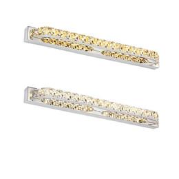 Lampe ba15d online-Moderne 18W LED wasserdichte Badezimmer-Wand-Licht Fxiture 680mm lange Kristall-Spiegel-Lampen im Schlafzimmer 85-265V
