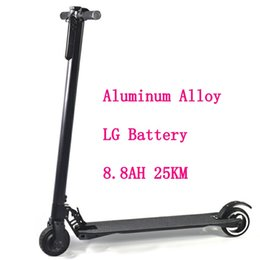 Wholesale 24v Battery Scooter - LG Battery 8.8AH Aluminum Alloy 2 Wheel Scooters 25km Portable Recycle For Working Easy Folding Mini Bicycle Adult Kick Electric Scooter