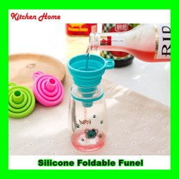 Wholesale Gel Transfer - Mini Silicone Collapsible Funnel Pratical Foldable Funnel for Liquid Transfer Red Blue Green Funnel Hopper Gel 100% Food Grade Silicone