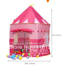 Wholesale Blue Castle Play Tent - Wholesale - Prince and Princess Palace Castle Playing Indoor & Outdoor Toy Tent blue and pink colors mixed 1202#02