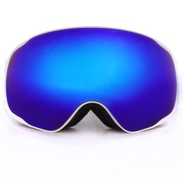 Wholesale Double Lens Snowboard Ski Goggles - Wholesale-BENICE Fashion Snow Glasses  UV- Protection Multi-Color  double anti-fog lens Snowboard Skiing Goggle with free bag