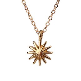 Wholesale Parties Things - Dogeared Accomplish Magnificent Things Starburst Venus Pendant Necklace Gold Plated Clavicle Chains Statement Necklace Women Jewelry