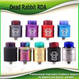Wholesale Wholesale Rabbit - Original Hellvape Dead Rabbit RDA Atomizer Single Coil Dual Coils Rebuidable Dripper Tank with Squonk Pin Designed By Heathen 100% Authentic